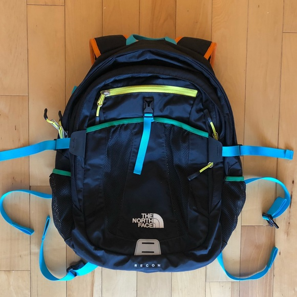 8b625ebd0 North Face Recon Backpack- super colorful!